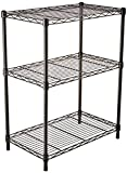 AmazonBasics 3-Shelf Shelving Storage Unit, Metal Organizer Wire Rack, Black