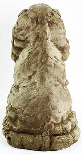 Cocker-Spaniel-Concrete-Outdoor-Garden-Statue-Puppy-Cement-Dog-Figure-Doggy-Sculpture