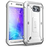SUPCASE Galaxy S6 Active Case, Full-Body Rugged Holster Case with Built-in Screen Protector for Samsung Galaxy S6 Active 2015 Release Unicorn Beetle PRO Series - Retail Package (White)