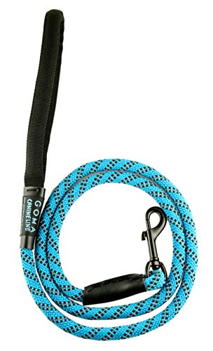 Best Soft reflective Dog training Leash- Chew resistant 4ft. bright nylon increased safety for night walking - for Medium and Large breeds - ergonomic anti slip grip - mountain climbing rope made