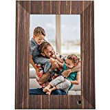 NIX Lux 10 Inch Digital Photo Frame X10J Wood - Wall-Mountable Digital Picture Frame with IPS Display, Motion Sensor, USB and SD Card Slots and Remote Control, 8 GB USB Stick Included