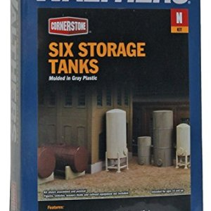 Walthers Cornerstone N Scale Modulars Storage Tanks pkg(6) 51qshJZK3jL