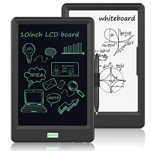 10 Inch LCD Writing Tablet, WOBEECO Electronic Drawing Tablet Kids Tablets Doodle Board Writing Pad for Kids and Adults at Home, School and Office with Lock Erase Button (Black)