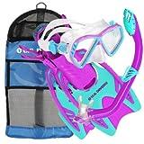 U.S. Divers Junior Regal Mask, Trigger Fins and Laguna Snorkel Combo Set, Fun Purple, Small/Medium