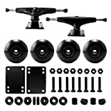 VJ 5.0 Skateboard Trucks (Black), Skateboard Wheels 54mm, Skateboard Bearings, Skateboard Pads, Skateboard Hardware 1' (54mm Black)