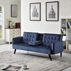 US Pride Furniture Sofabed, Sleeper, Navy