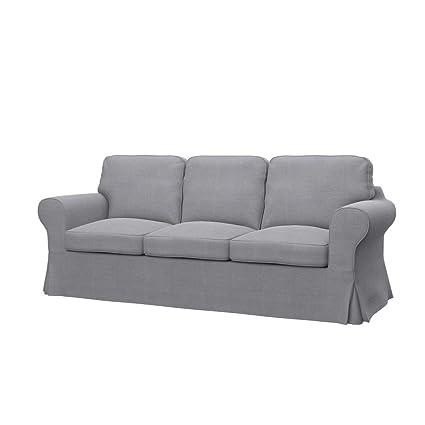 Soferia Housse Supplémentaire Ikea Ektorp Pixbo Canapé Convertible 3 Places Tissu Elegance Light Grey