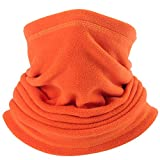 AXBXCX Neck Warmer Gaiter - Windproof Ski Mask - Cold Weather Face Motorcycle Mask Cycling Skull Cap Thermal Scarf for Running Snowboarding Fishing Hunting Off-Roading Orange