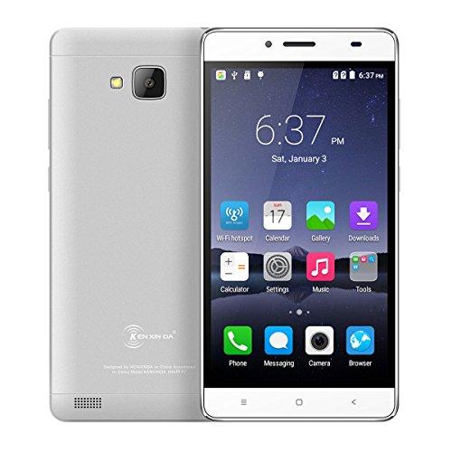 Android 5.5'' Kenxinda R7 T-mobile FHD Screen 2500mAh SC7731 Bluetooth 4.0 Ultrathin 1G/8G Unlocked Smartphone(Silvery)