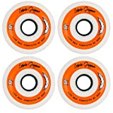 Labeda Gripper Roller Hockey Inline Wheels White 72mm Soft 78A 4 Pack