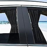 2pcs Car Side Window UV Protection Curtain Sun Shade Vehicle Slidable Retractable Window Shield for Sedan SUV
