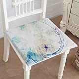 Mikihome Premium Comfort Seat Cushion Blue Smoke Motion on White Bright Dynamic Background for Wallpaper Cushion for Office Chair Car Seat Cushion 32'x32'x2pcs