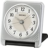 Seiko Ascending Beep Alarm Clock with Light Function - Silver