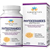 Phytoceramides Made from Rice - Non GMO Gluten Free Hair Skin and Nails Vitamin, Reduce Fine Lines & Wrinkles, Strengthen Hair & Nails, Best Ceramides Supplement for Women & Men - 30 Veggie Capsules