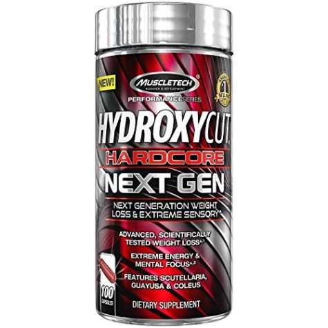 Muscletech Performance Series Hydroxycut Hardcore Next Gen (Coleus 100mg, Guayusa 20mg) – 100 Capsules (Guayusa & Coleus)