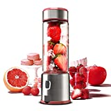 Personal Glass Blender, TOPQSC USB Rechargeable Portable Travel Blender for Shake and Smoothie, Portable Blender Juicer Cup Fruit Mixer with 5200 mAh Rechargeable Battery, Conceal USB Interface Design