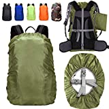 ZM-SPORTS 15-90L Upgraded Waterproof Backpack Rain Cover,with Vertical Adjustable Fixed Strap Avoid to Falling,Gift with Portable Storage Pack (Olive Green, S(for 15-25L Backpack)