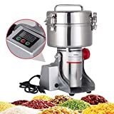 DaTOOL 2000g Commercial Electric Grain Grinder New LED Didital Display Stainless Steel Electric Mill Ultra-fine Powder Grinding Machine 32000 r/min CE Approved for Kitchen Herb Spice Pepper Coffee Powder Grinder (2000g Grinding Machine)
