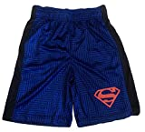 Boys Youth Printed Performance Basketball Athletic Shorts (Large 10/12, Blue - Superman)