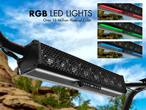 "BOSS Audio BRT27A 27"" Sound Bar Audio System – Bluetooth, Weatherproof, Built-in Amplifier, for Use with ATV / UTV / SideXSide, Featuring RGB Lights"