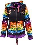 Little Kathmandu Cotton Printed Multicolored Light Pixie Hood Jacket Black UK Size 14