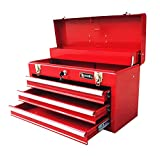 Excel TB133-Red 20.5-Inch Portable Steel Tool Box, Red 3 PACK