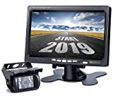 Upgrade Backup Camera Monitor Kit,1024X600 HD,IP69 Waterproof Rearview Reversing Rear View Camera 7'' LCD Reversing Monitor Truck/Semi-Trailer/Box Truck/RV — HD Transmission, Four-pin — DVKNM (TZ101)