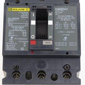 GJL36030 SQD 3P 30A 600V CIRCUIT BREAKER