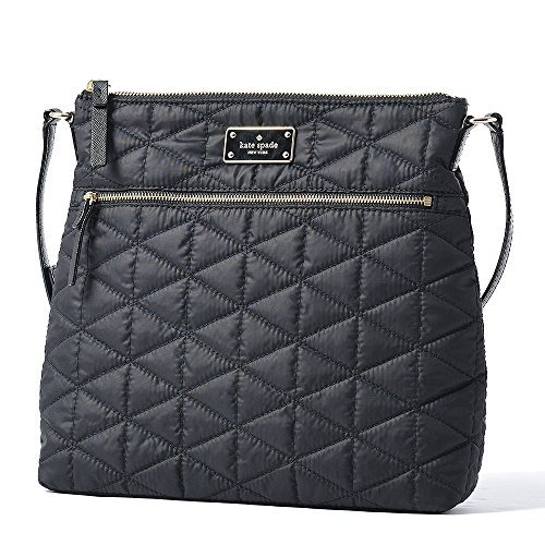 51r8TOtv26L Nylon bag with gold toned hardware Front has zip pocket and Kate Spade name plate Adjustable strap with maximum drop of approx. 22 inches