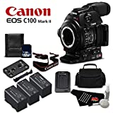 Canon EOS C100 Mark II Cinema EOS Camera with Dual Pixel CMOS AF (Body Only) International Version - Gold Level Bundle
