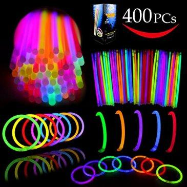 Glow Sticks Bulk 400 8″ Glowsticks (Total 800 Pcs 7 Co