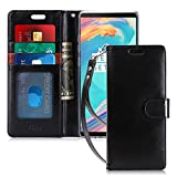 FYY Luxury PU Leather Wallet Case for Galaxy Note 8, [Kickstand Feature] Flip Folio Case Cover with [Card Slots] and [Note Pockets] for Samsung Galaxy Note 8 Black