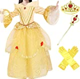 Romy's Collection Princess Belle Yellow Party Dress Costume, 3-4