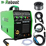 REBOOT MIG Welder MIG-175 Gas/Gasless DC 220V 1KG/5KG 2 in 1 Flux Core Wire And Solid Wire IGBT Inverter Welding Machine MMA MIG MAG Stick Welder ...