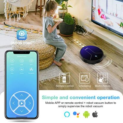 Robot-Vacuum-GOOVI-by-ONSON-2100Pa-Robotic-Vacuum-Cleaner-with-MappingWi-Fi-360-Smart-Sensor-Protection-Self-Charging-with-2-Boundary-Strips-for-Pet-Hairs-Hard-Floors-Medium-Pile-Carpets