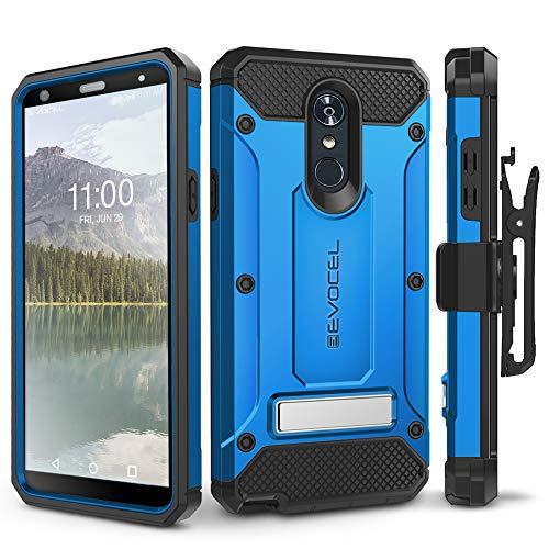 LG Stylo 4 Case, Evocel [Explorer Series Pro] Premium Full Body Case with Glass Screen Protector, Belt Clip Holster, Metal Kickstand for LG G Stylo 4 (2018), Blue (EVO-LGSTYLO4-CC02)