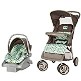 Cosco Lift & Stroll Travel System - Car Seat and Stroller - Suitable for Children Between 4 and 22 Pounds, Elephant Squares