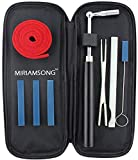 Miriam Song Piano Tuning Tuner Kit-The Best Tuner Set Including Universal Star Head Hammer, Mute tools, Felt Temperament Strip and Case