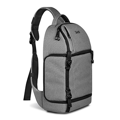 Zecti Sling backpack for DSLR Camera (Canon Nikon Sony Pentax Olympus and etc.) Gray