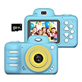 Wonvin Kids Toys Camera for 4-10 Year Old Girls Boys,2.4 Inch Screen 8MP HD Video Cameras for Children, Best Gift for 4-10 Year Old Boy Girl Creative Gifts,(16GB Micro SD Card Included)