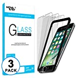 Novaeast Screen Protector for iPhone 6, iPhone 6s, iPhone 7, iPhone 8 [4.7-Inch] Screen Protector with Easy Install Frame, Tempered Glass Film, 3 Pack