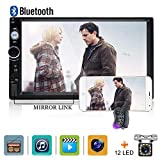 Car Stereo 2 din car Radio 7' HD Player MP5 Touch Screen Digital Display Bluetooth Multimedia USB 2din Autoradio Mobile Phone interconnetion with 12 LED Car Backup Camera