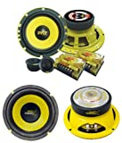 2) PYLE PLG6C 6.5' 400W 2 Way Car Component+ 2) 6.5' 600W Subwoofer Sub Speakers