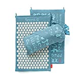 Spoonk Sky Blue Hemp Acupressure Massage Mat with carry-bag