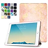 TNP iPad Air 2 Case - Slim Lightweight Shell Smart Cover Stand, Hard Back Protection with Auto Sleep Wake for Apple iPad Air 2 (Marble Rose Gold)