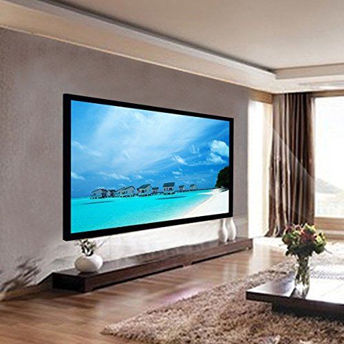 Safstar Aluminum HD Fixed Frame Projector Screen for Home Theater Office Presentation (100' / 16:9 / 87' x 50')
