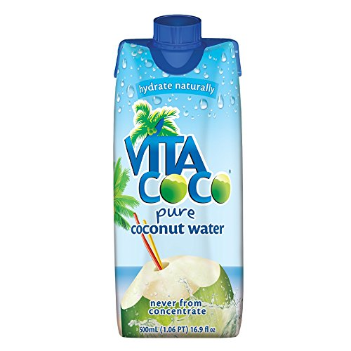 Vita Coco Coconut Water, Pure, Non-GMO, Gluten-Free, Vitamin and Electrolyte-Rich Beverage to Fuel Energy and Hydration, 16.9 Ounce (Pack of 12)