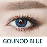 Cosplay Eyes Multi-Color Contact Lenses Cosplay Eyes Cute Colored Charm and Attractive Blends Cosmetic Makeup Eye Shadow (Blue)