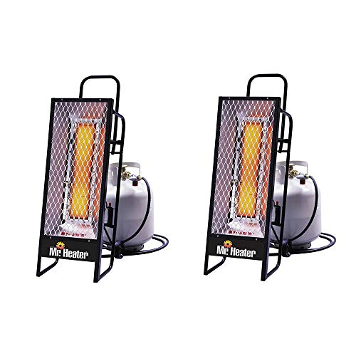 Mr. Heater 35000 BTU Radiant Propane Portable Work Job Site Heater (2 Pack)