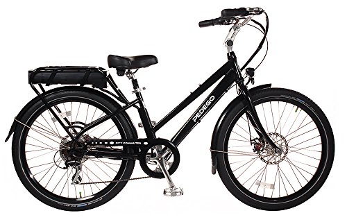 """Pedego City Commuter 26"""" Step Thru Black with Black Balloon Package 48V 15Ah"""
